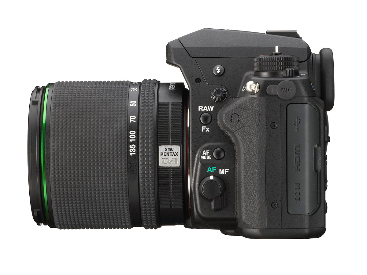 Pentax K-3 DSLR - Side View With 18-135mm Zoom