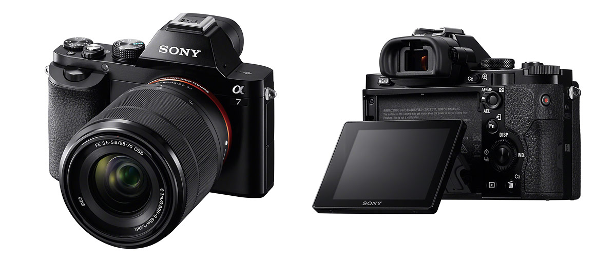 Sony Alpha A7 Full-Frame Mirrorless Camera - Front & Back