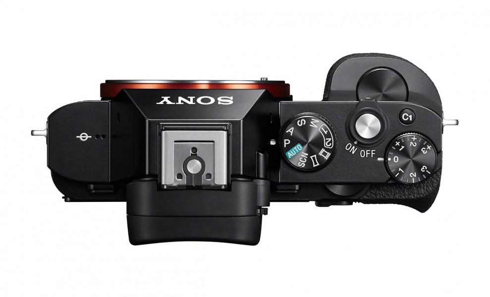 Sony Alpha A7 / A7R Full-Frame Mirrorless Camera - Top View - Camera ...
