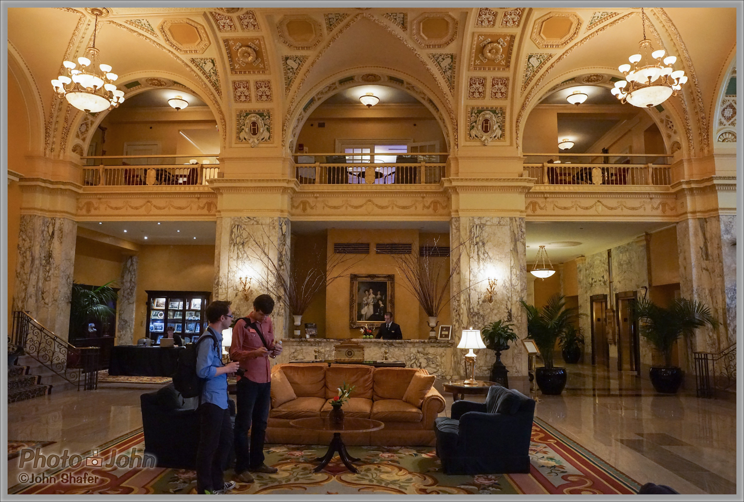 Hermitage Hotel Lobby - Sony Alpha A7R at ISO 6400