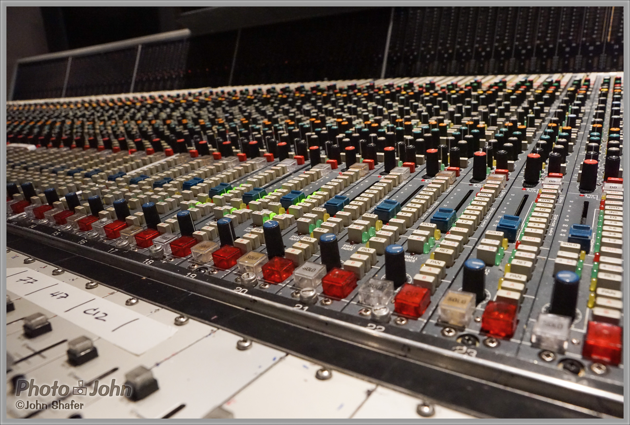 Recording Studio Mixing Board - Sony Alpha A7R - ISO 6400