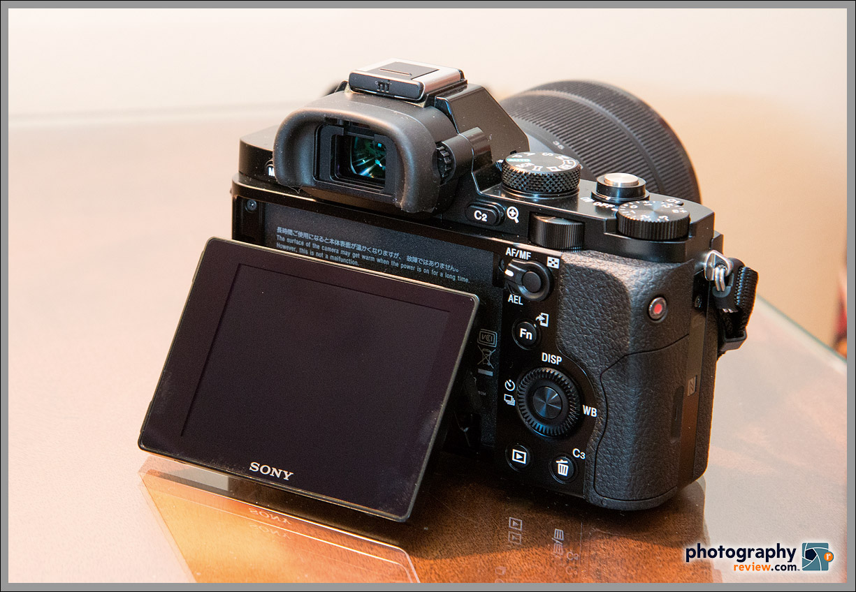 Sony Alpha A7 - Rear View With EVF & Tilting LCD Display