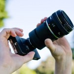 iPhone SLR Mount With Canon 50mm f/1.4 Lens