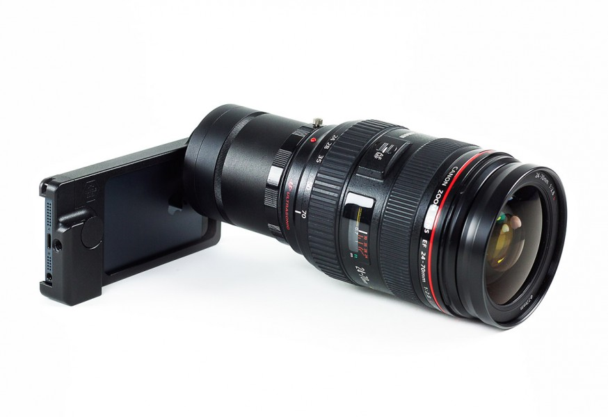 The iPhone SLR Mount With Canon 24-70mm f/2.8L Lens