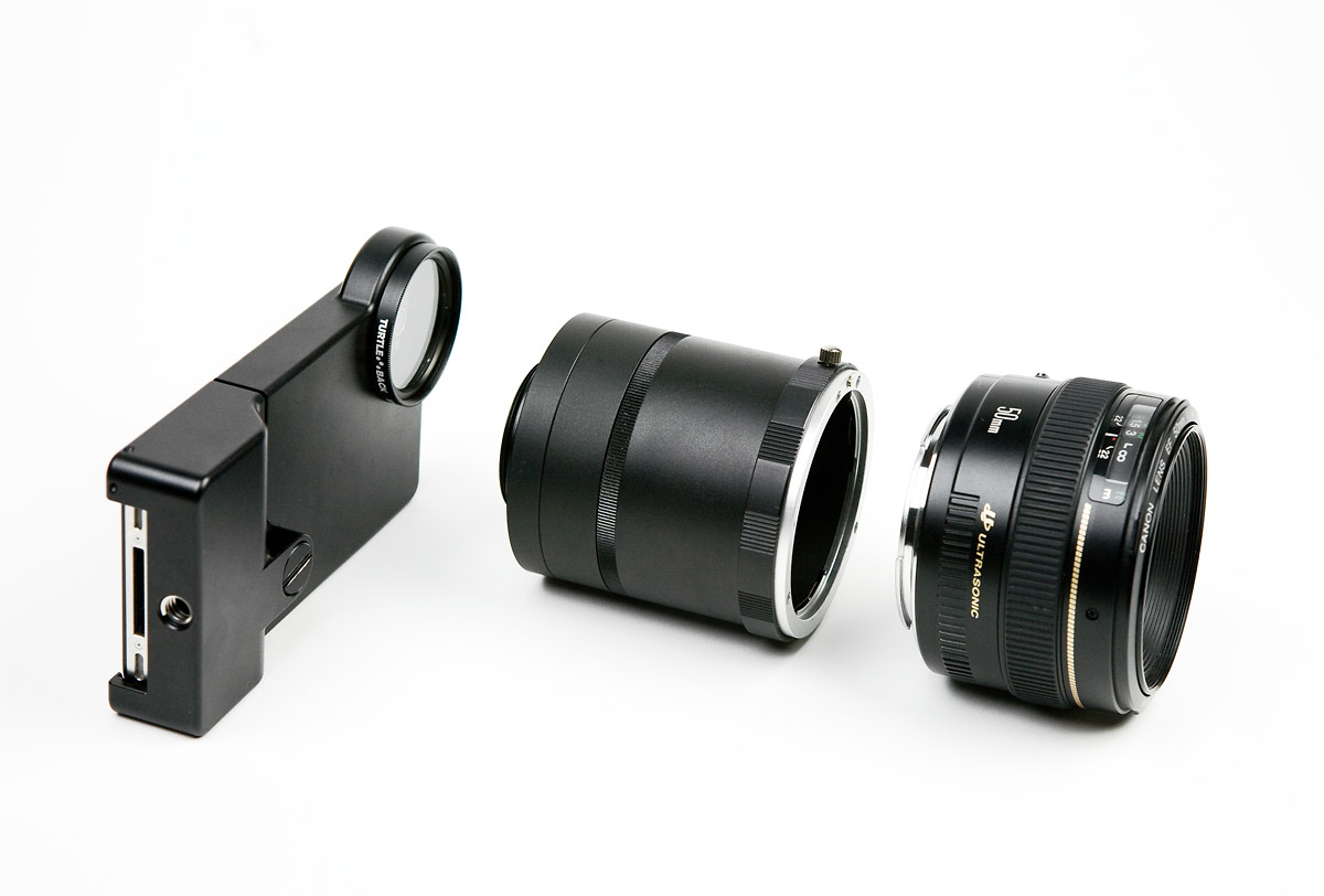 The iPhone SLR Mount - Case, Mount & Lens
