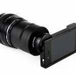 iPhone SLR Mount - Rear View With Phone In Case