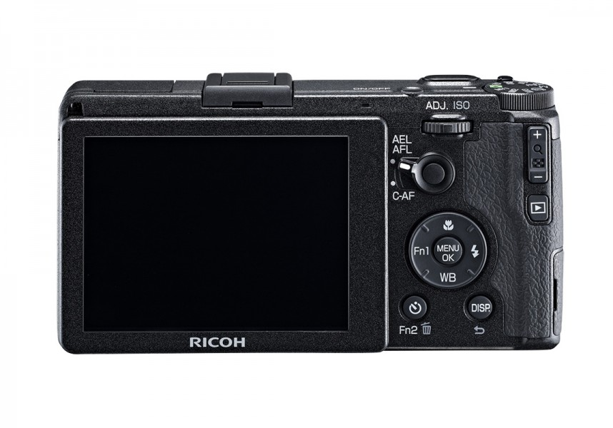 Ricoh GR High-End Pocket Camera - Rear View