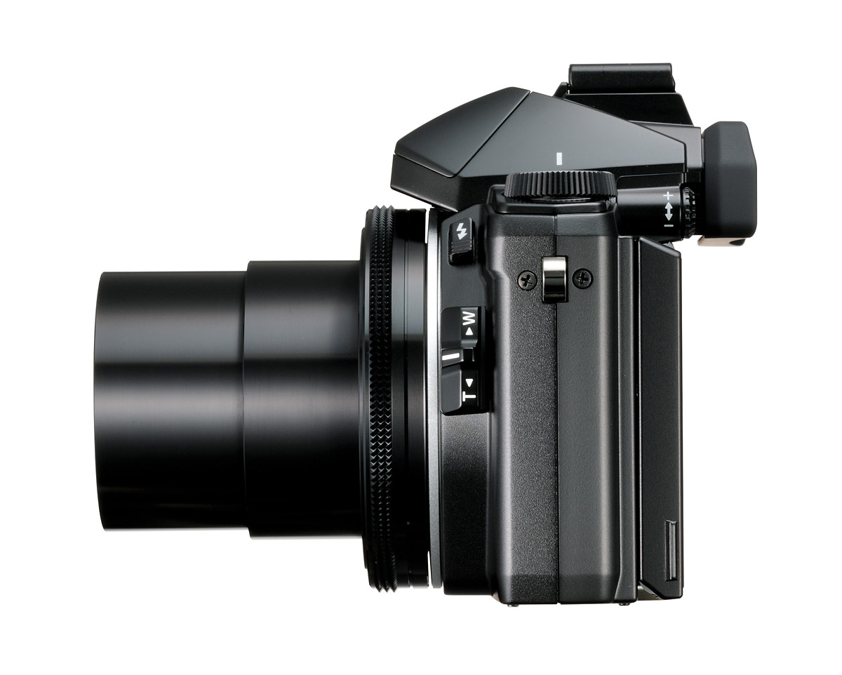 Olympus Stylus 1 - Side View - Telephoto Zoom