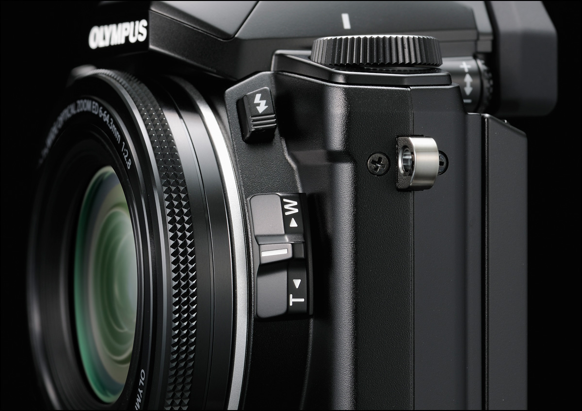 Olympus Stylus 1 - Zoom Lever On Lens