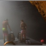 "Our Camera Testers Getting Ready To Dive At ""The Crater"""