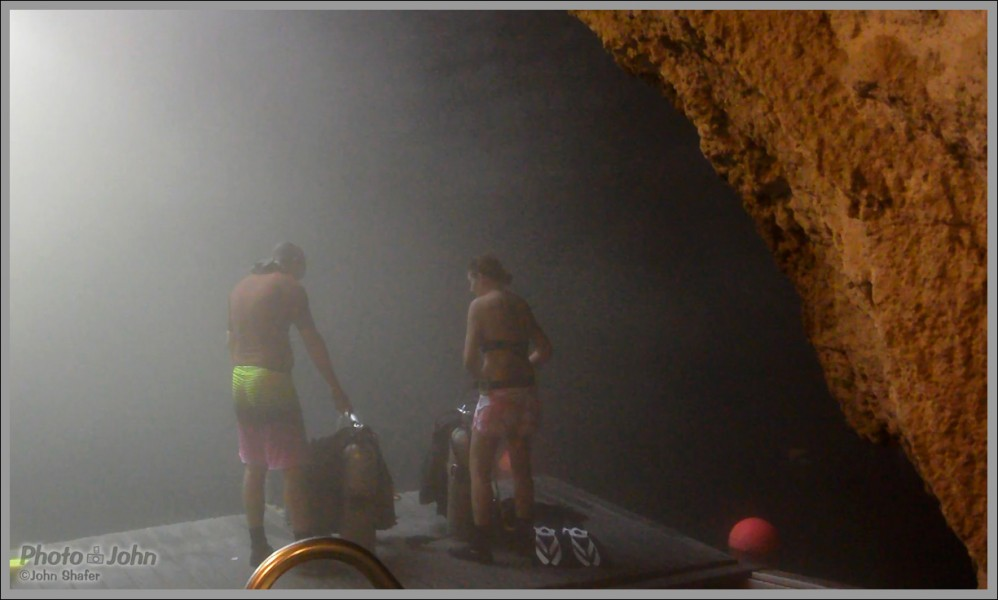 """Our Camera Testers Getting Ready To Dive At """"The Crater"""""""