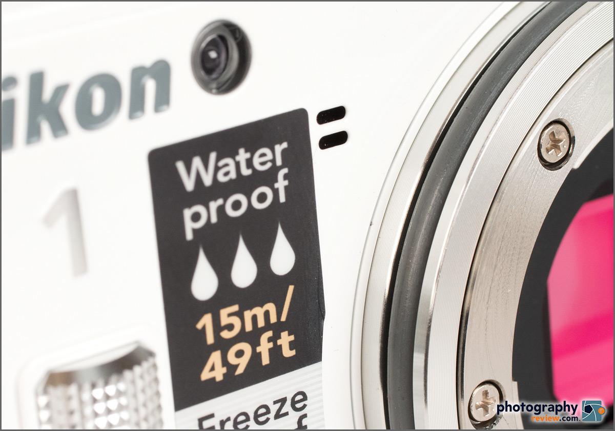 Lens O-Ring On The Nikon 1 AW1 Waterproof Mirrorless Camera