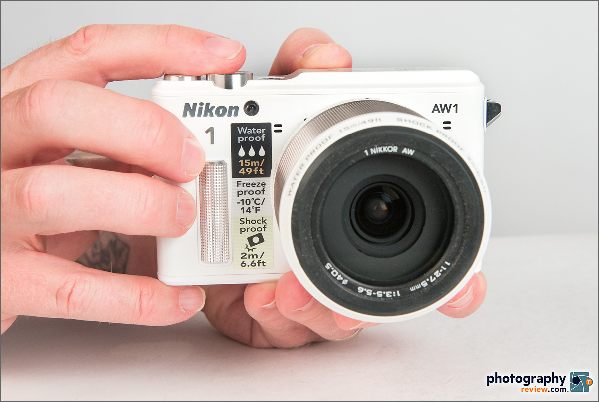 Nikon 1 AW1 In Hands
