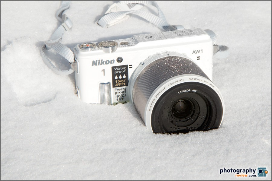 Nikon 1 AW1 Waterproof Mirrorless Camera In Snow