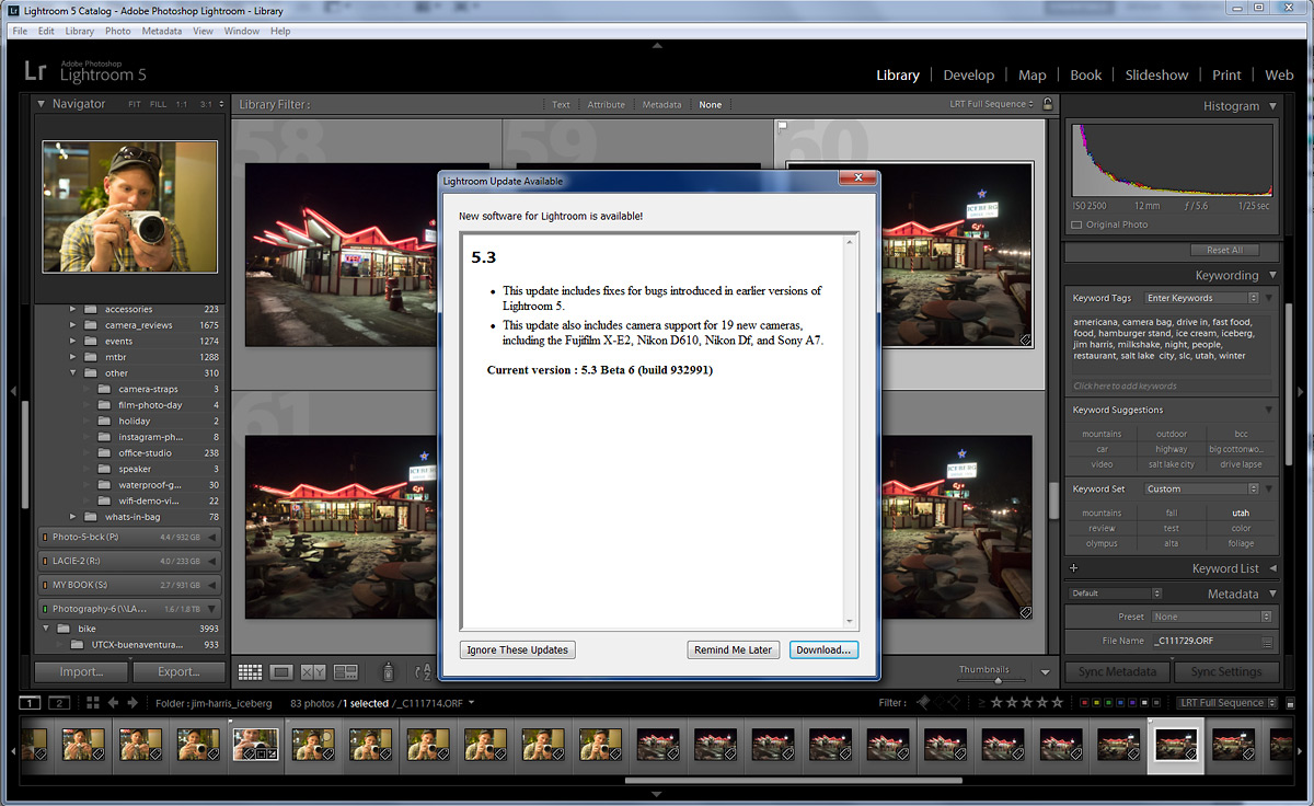 Adobe Lightroom 5.3 Software Update