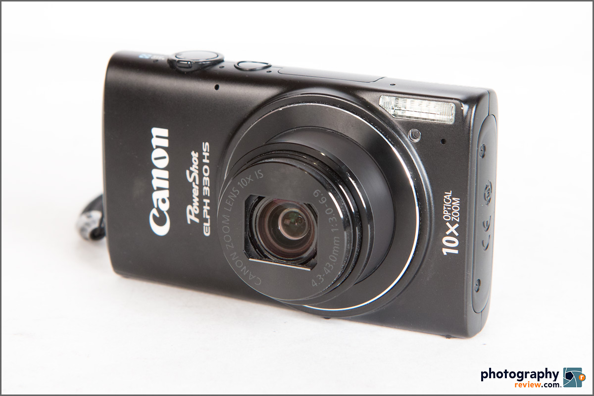Canon PowerShot ELPH 330 HS Pocket Superzoom Camera - Front Angle View