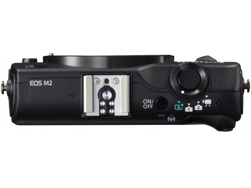Canon EOS M2 Mirrorless Camera - Top - Black
