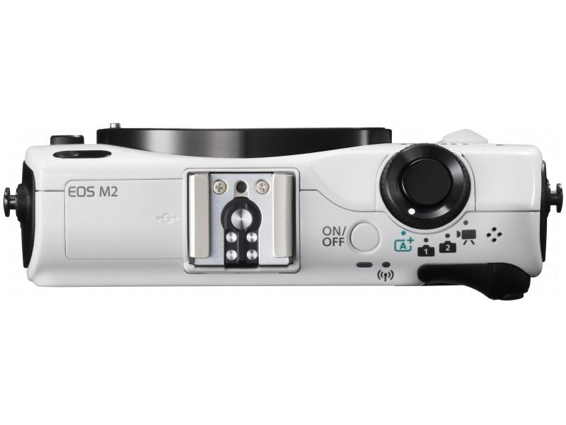 Canon EOS M2 Mirrorless Camera - Top - White