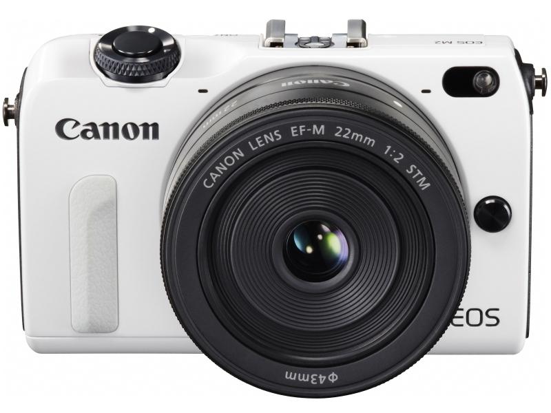 Canon EOS M2 Mirrorless Camera - White