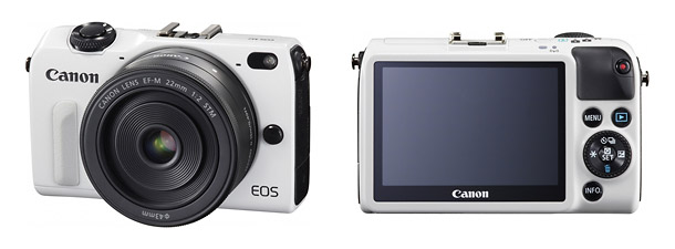 Canon EOS M2 Mirrorless Camera - Front & Back
