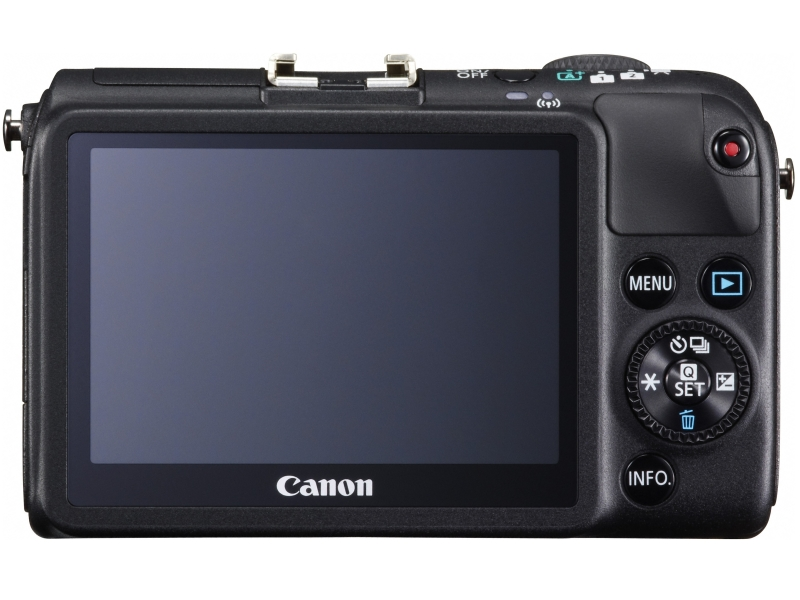 Canon EOS M2 Mirrorless Camera - Rear - Black