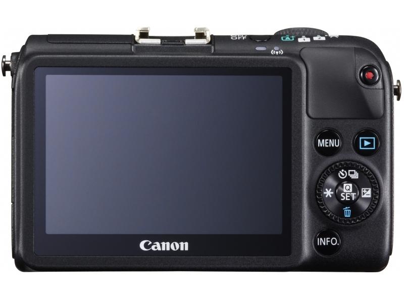 Canon EOS M2 Mirrorless Camera - Rear - Black