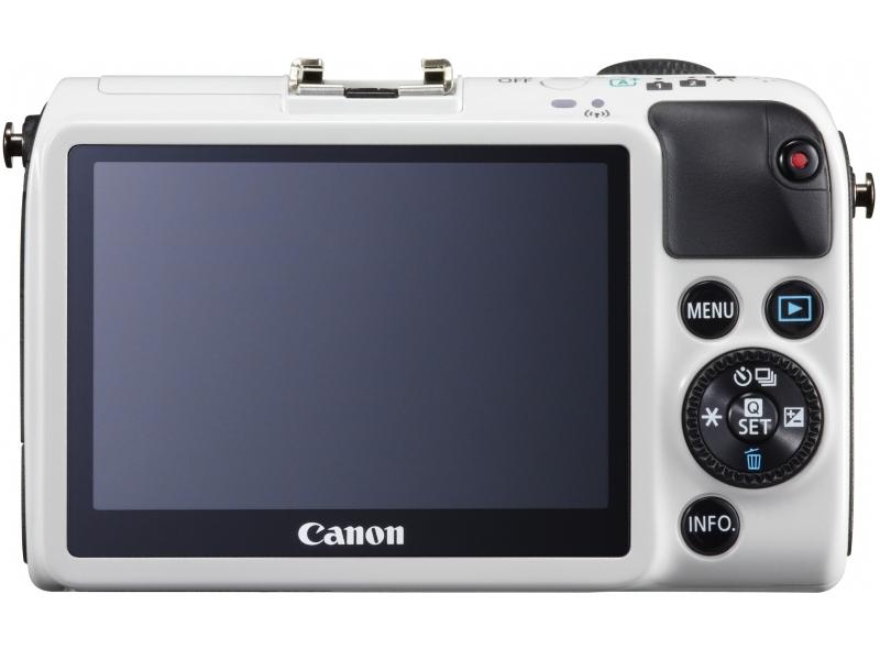 Canon EOS M2 Mirrorless Camera - Rear - White