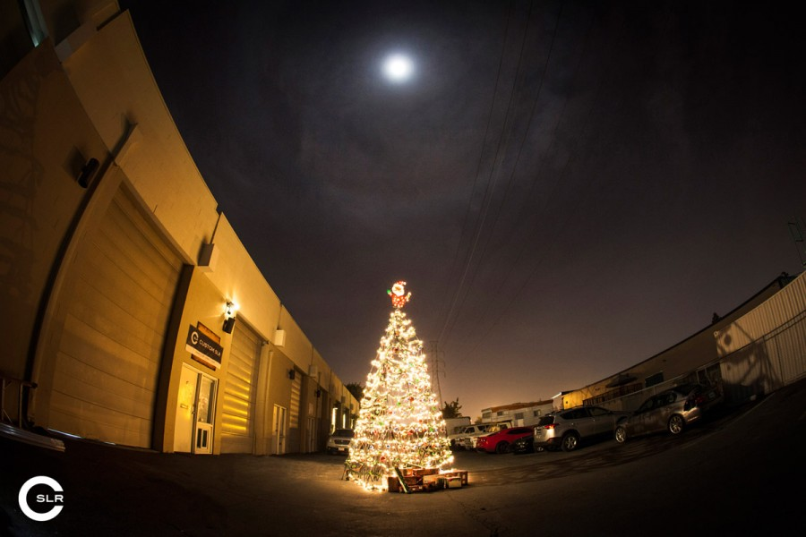 A Christmas Tree Built Entirely From Tripods