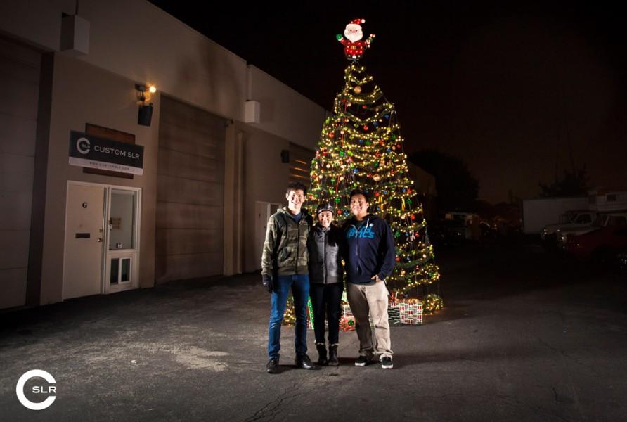 The Custom SLR Crew & Their Tripod Christmas Tree