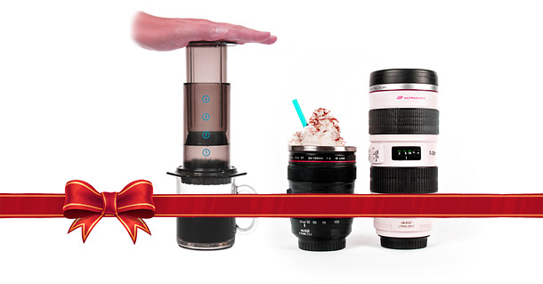 AeroPress & DSLR Lens Mug - 2013 Holiday Guide