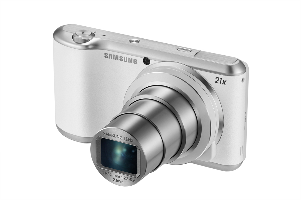Samsung Galaxy Camera 2 With 21x Zoom - Front Angle - White