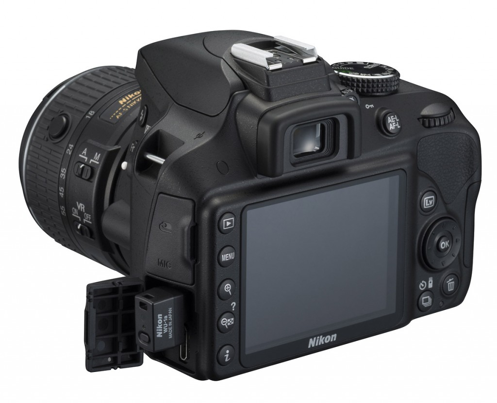 Nikon D3300 With WU-1a Wireless Mobile Adapter