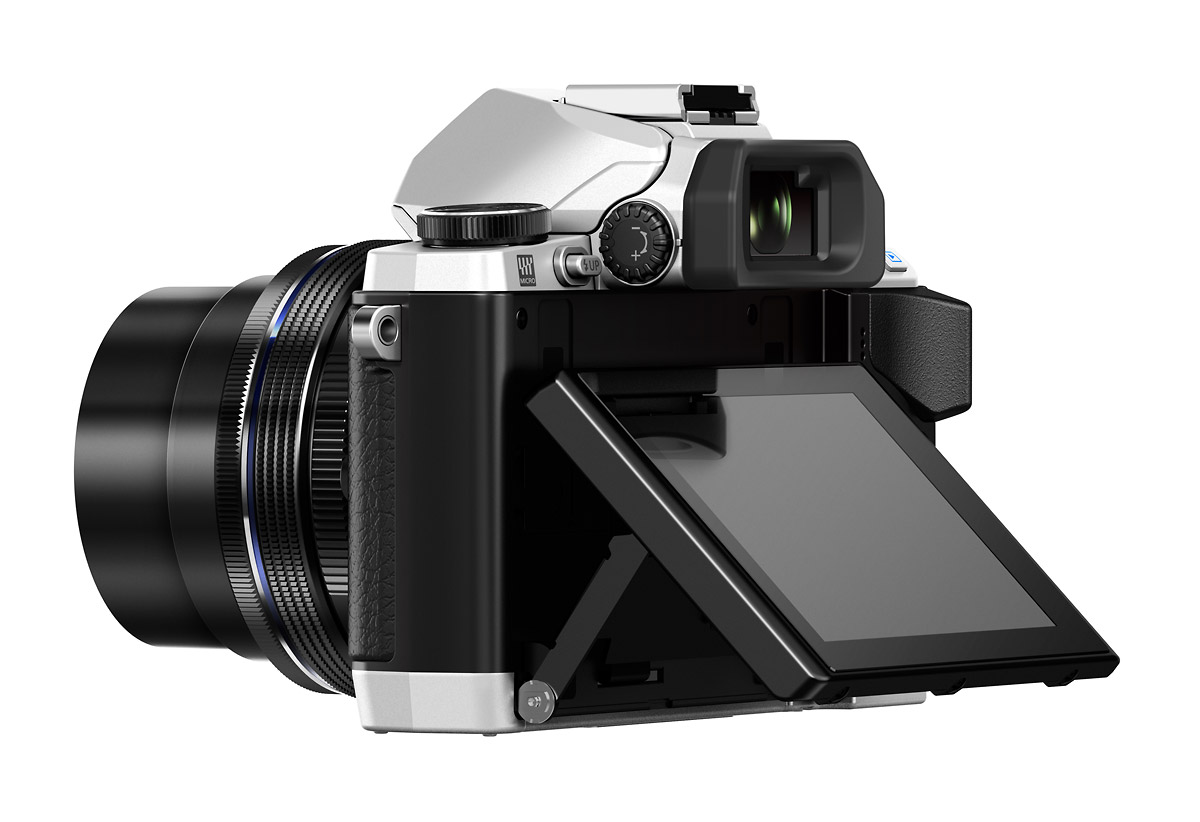 Olympus OM-D E-M10 - Rear With Tilting LCD Display