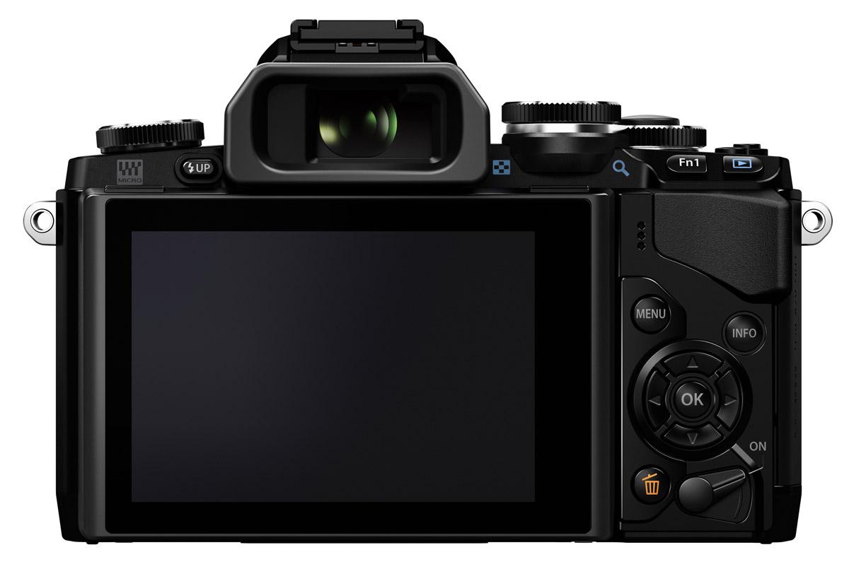 Olympus OM-D E-M10 - Rear - Black