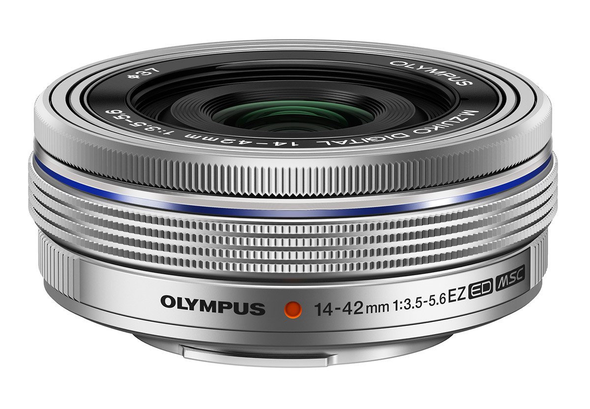 M.Zuiko Digital 14-42mm f3.5-5.6 EZ Pancake Zoom Lens - Silver