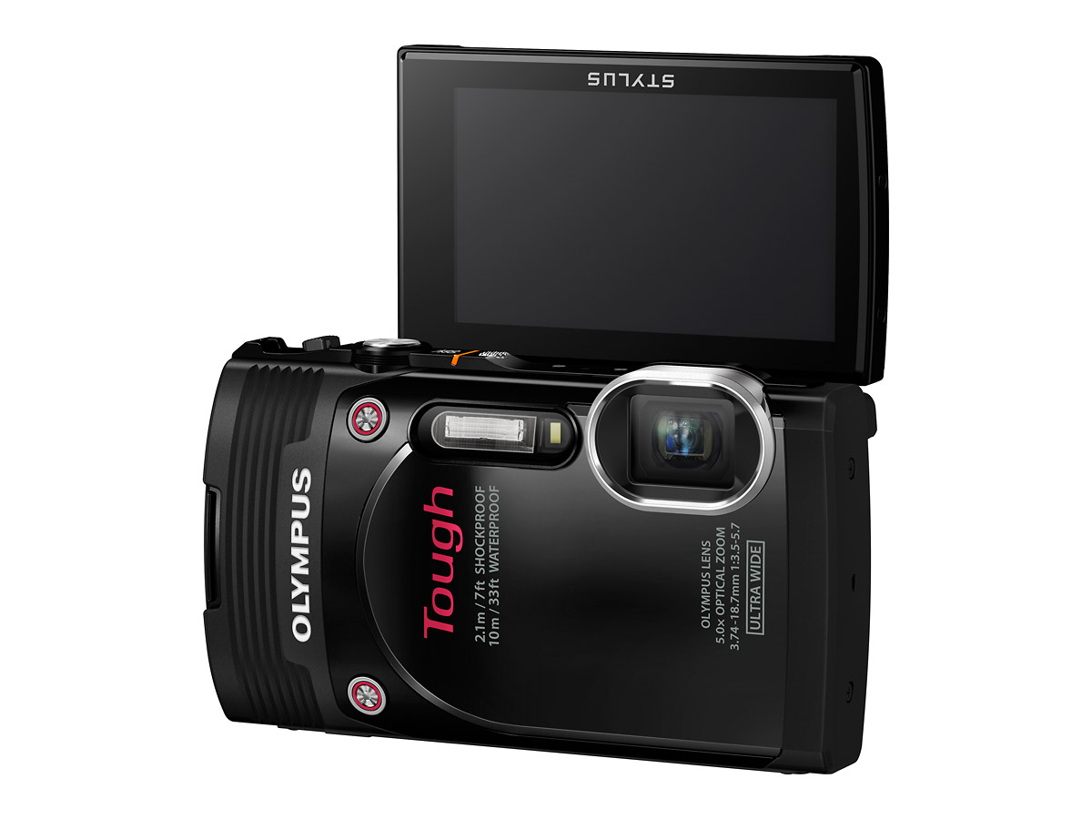 Olympus Stylus Tough TG-850 With Flip-Up LCD Display - Black