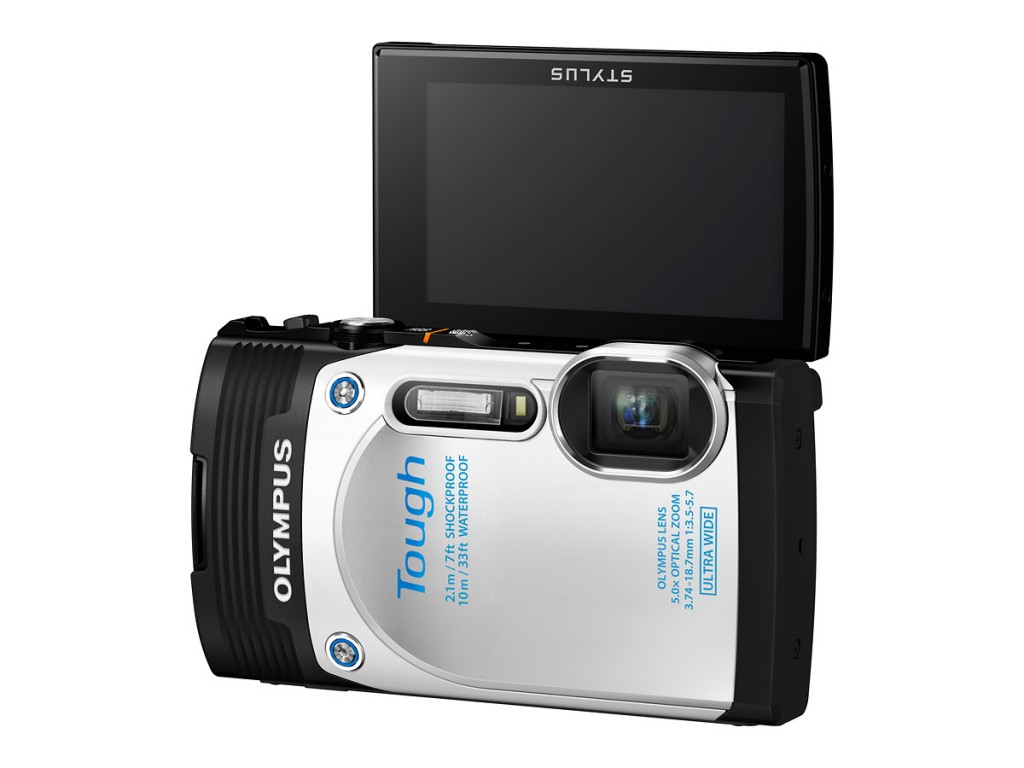 Olympus Stylus Tough TG-850 With Flip-Up LCD Display - White