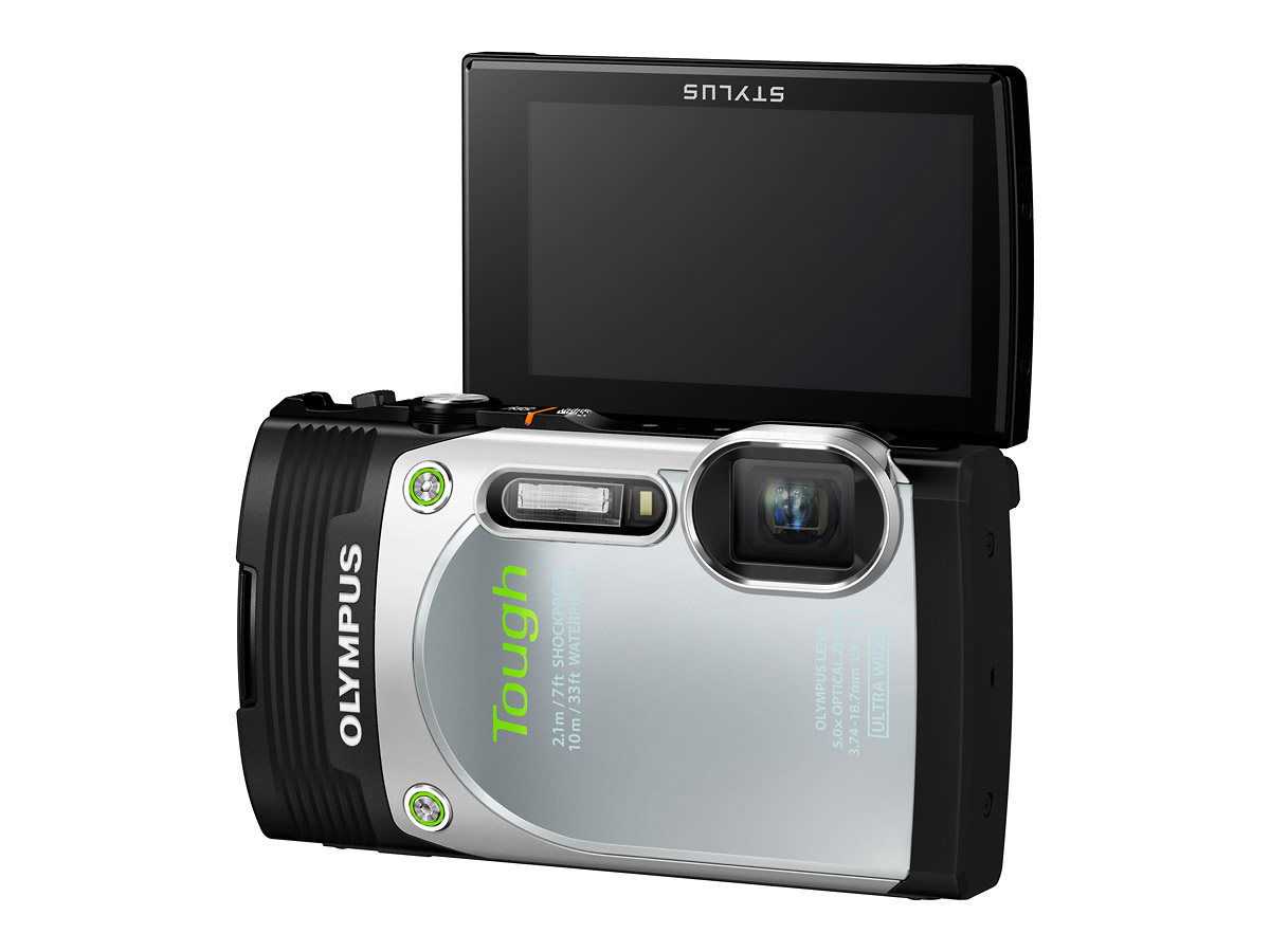 Olympus Stylus Tough TG-850 With Flip-Up LCD Display - Silver