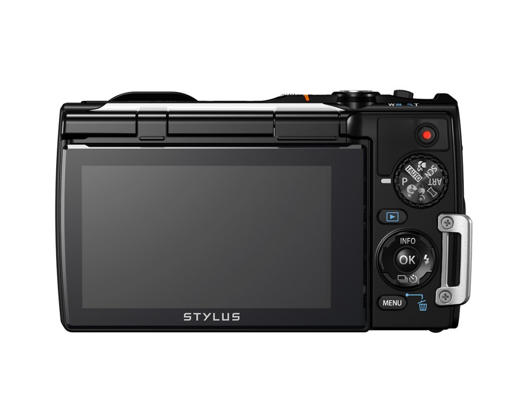 Olympus Stylus Tough TG-850 Waterproof Point-and-Shoot - Rear View