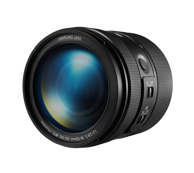New Samsung 16-50mm f/2-2.8 S ED OIS Premium Zoom Lens - Front