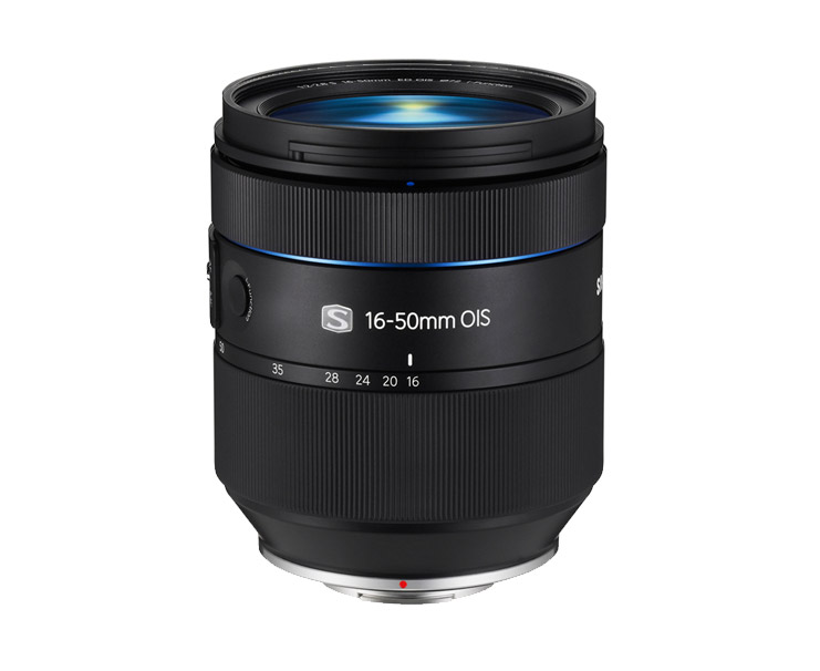 New Samsung 16-50mm f/2-2.8 S ED OIS Premium Zoom Lens - Side