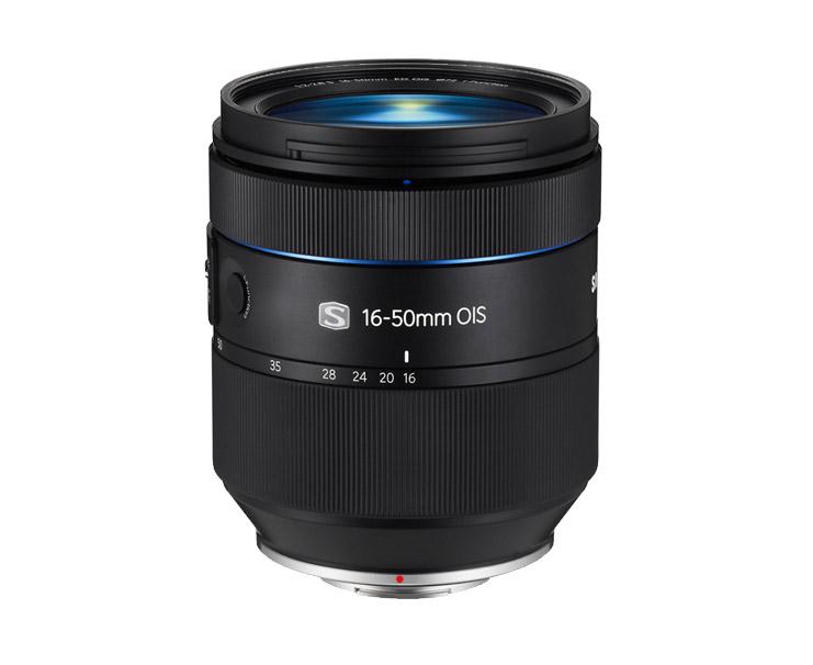 New Samsung 16-50mm f/2-2.8 S ED OIS Premium Zoom Lens - Side