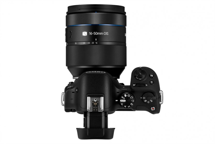 Samsung NX30 - Top View With 16-50mm f/2-2.8 Zoom Lens