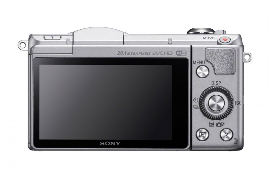 Sony Alpha A5000 - Rear View - Silver