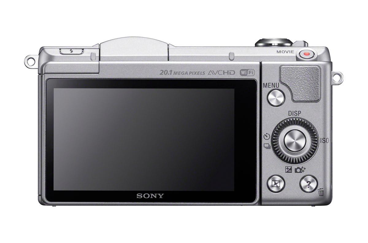 Sony Alpha A5000 - Rear View - Silver