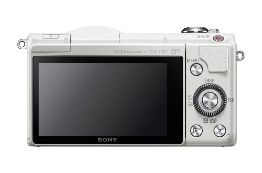 Sony Alpha A5000 - Rear View - White