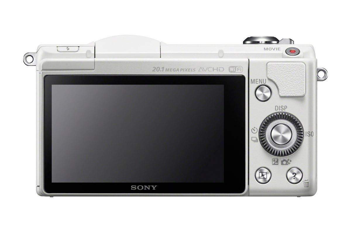 Sony Alpha A5000 - Rear View - White