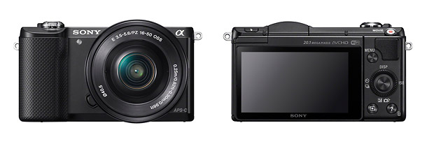 Sony Alpha A5000 - Front & Back