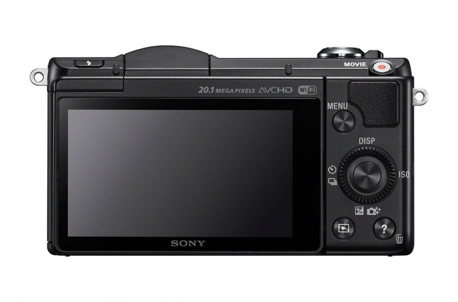Sony Alpha A5000 - Rear View - Black