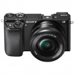 Sony Alpha A6000 Mirrorless Camera - High Front View - Black